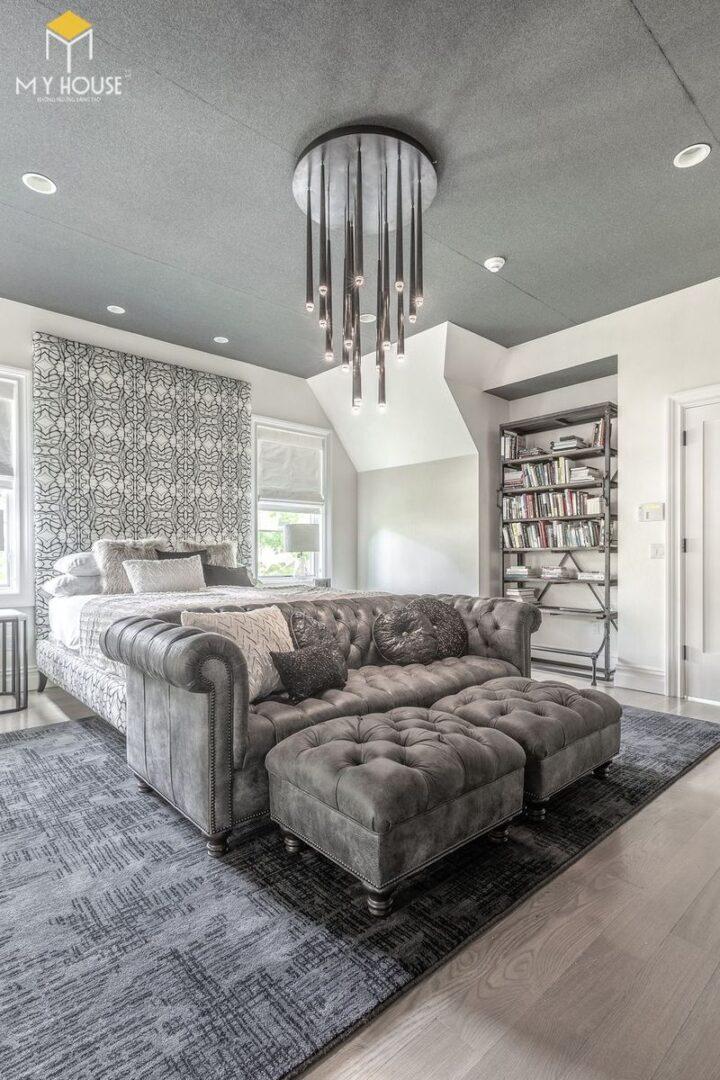 Phòng ngủ sang trọng nhất thế giới kết hợp đèn chùm trang trí - Mẫu 14