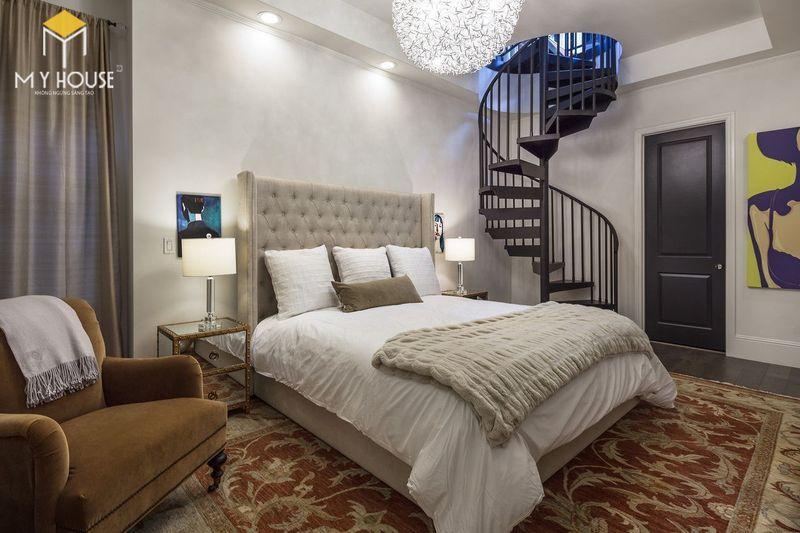 Phòng ngủ kết hợp cầu thang phong cách châu Âu - Mẫu 13