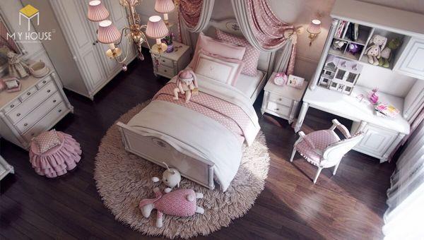 Phòng ngủ tân cổ điển màu hồng 01