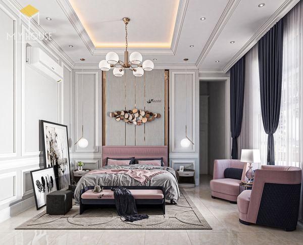 Phòng ngủ tân cổ điển màu hồng 3
