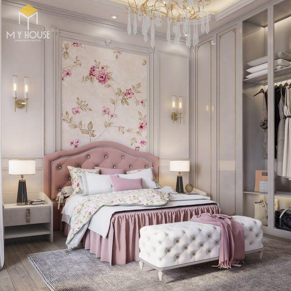 Phòng ngủ tân cổ điển màu hồng 09