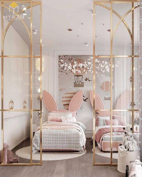 Phòng ngủ tân cổ điển màu hồng 10