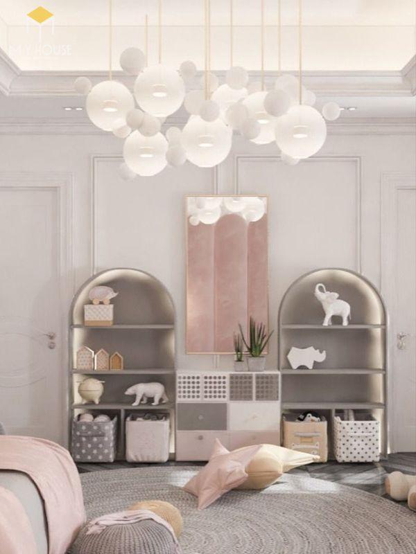 Phòng ngủ tân cổ điển màu hồng 11