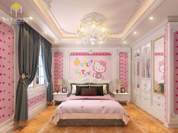 Phòng ngủ tân cổ điển màu hồng 13