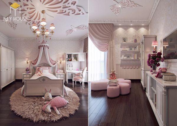Phòng ngủ tân cổ điển màu hồng 05