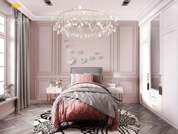 Những lưu ý khi thiết kế phòng ngủ tân cổ điển màu hồng 20