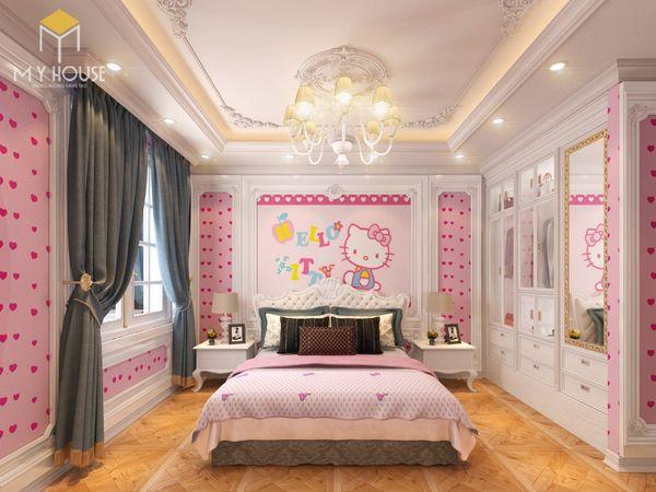 Phòng ngủ tân cổ điển màu hồng 06