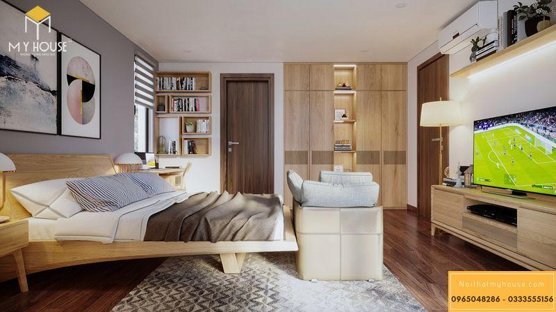 Mẫu thiết kế phòng ngủ vợ chồng sang trọng - Mẫu 02