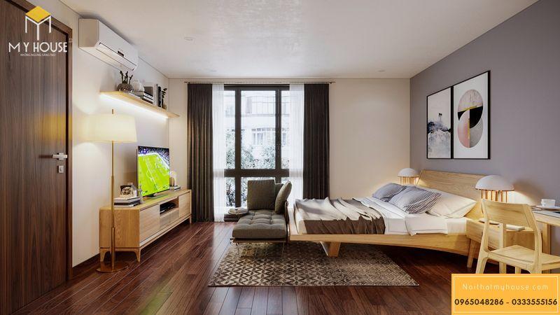 Mẫu thiết kế phòng ngủ vợ chồng sang trọng - Mẫu 03