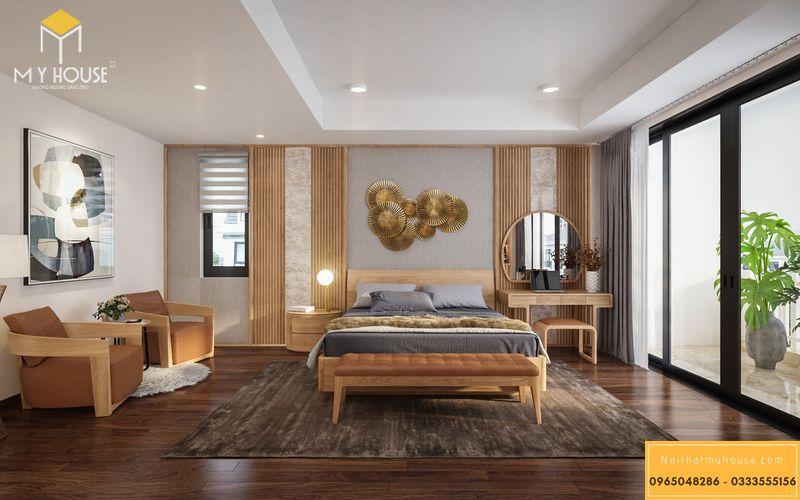 Mẫu thiết kế phòng ngủ vợ chồng sang trọng - Mẫu 04