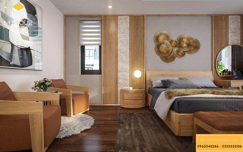 Mẫu thiết kế phòng ngủ vợ- chồng sang trọng - Mẫu 05
