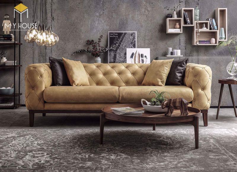 Sofa da cổ điển - Mẫu 01