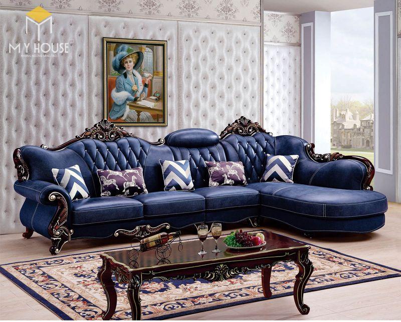 Sofa da cổ điển - Mẫu 11
