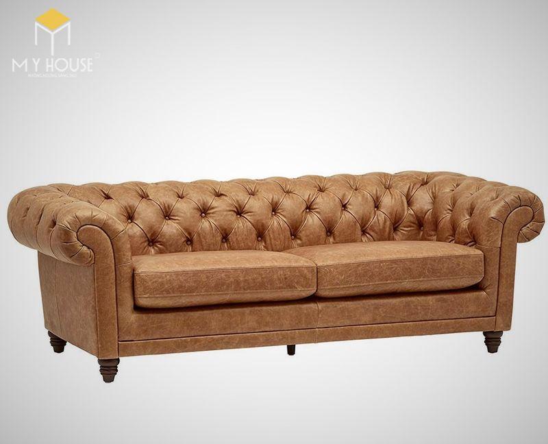 Sofa da cổ điển - Mẫu 12