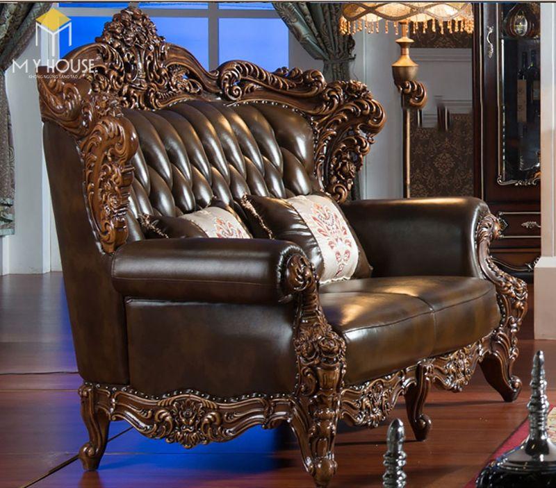 Sofa da cổ điển - Mẫu 13
