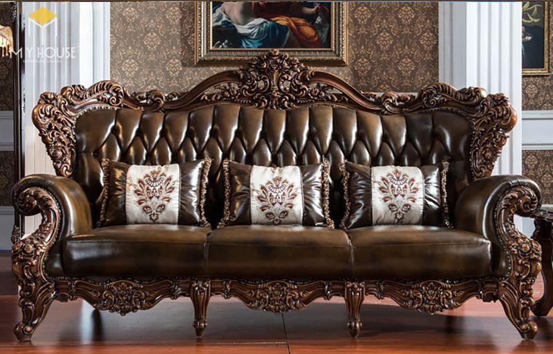 Sofa da cổ điển cao cấp Thiết kế sang trọng- 16