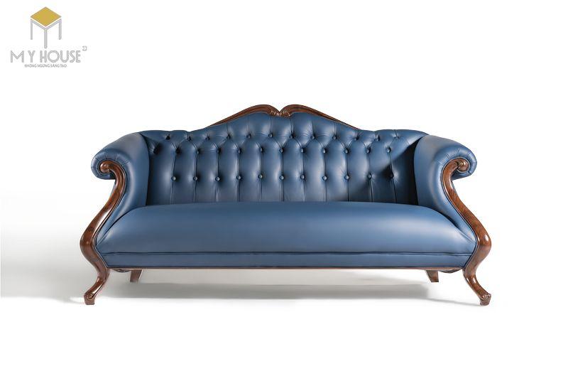 Sofa da cổ điển - Mẫu 06