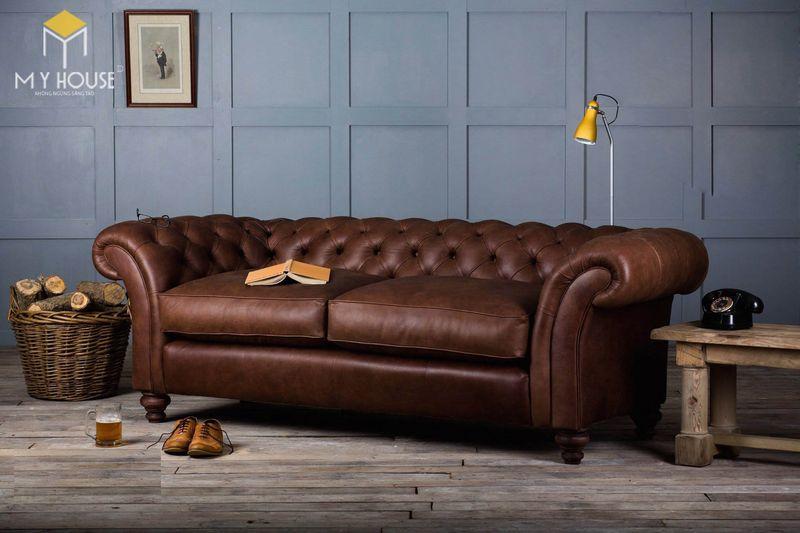 Sofa da cổ điển - Mẫu 08