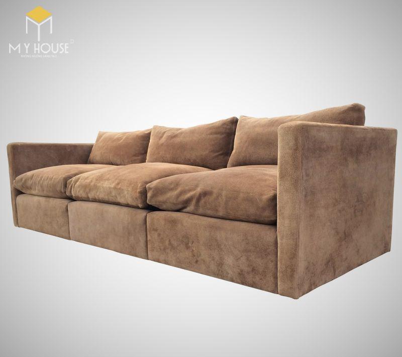 Mẫu ghế sofa da lộn - 06