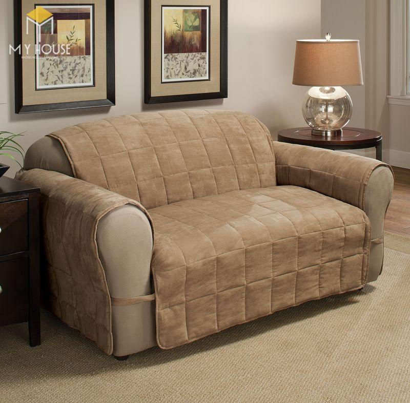 Mẫu ghế sofa da lộn - 08
