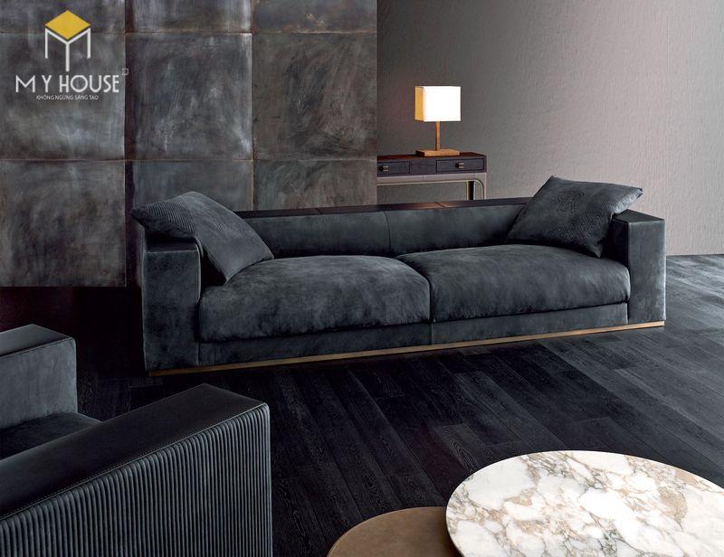 Mẫu ghế sofa da lộn - 18