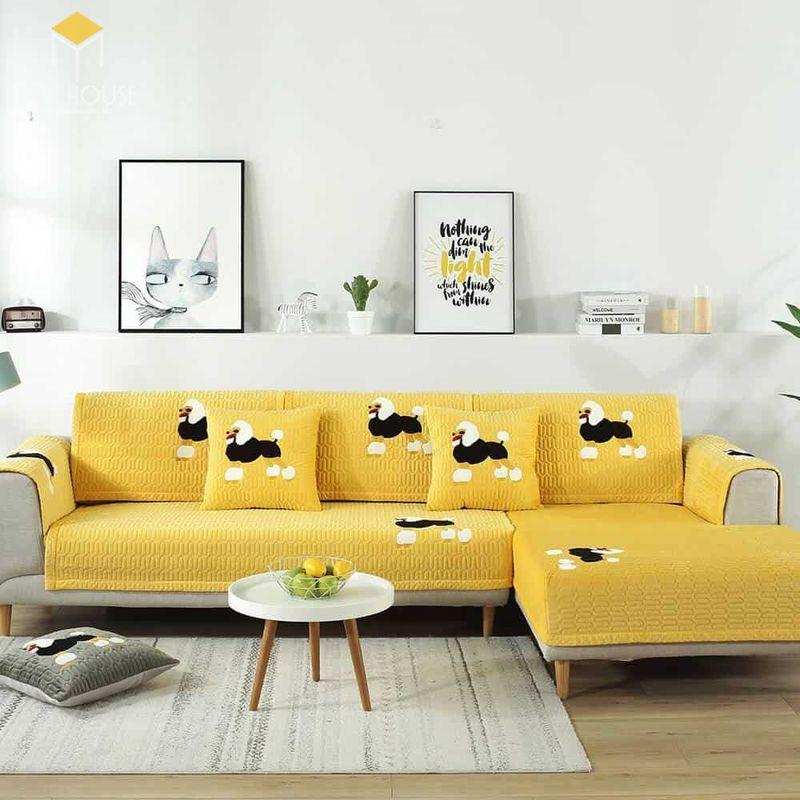 Mẫu ghế sofa da lộn - 03