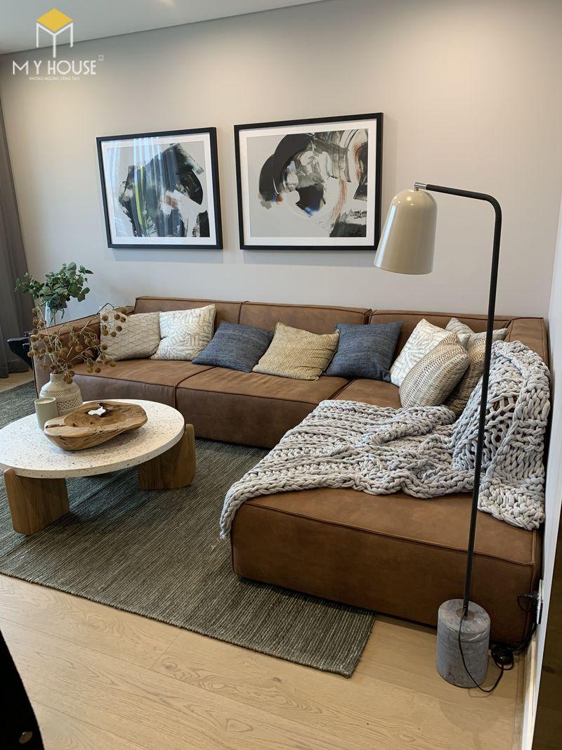 Mẫu ghế sofa da lộn - 28