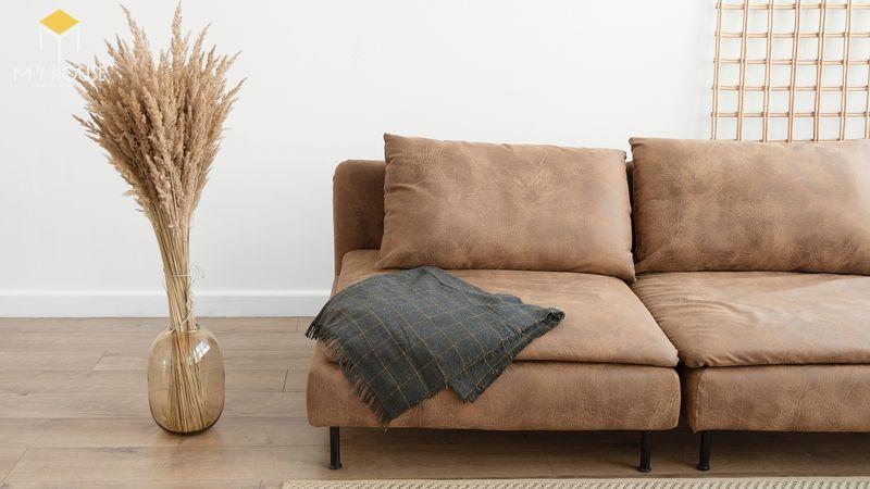 Mẫu ghế sofa da lộn - 10
