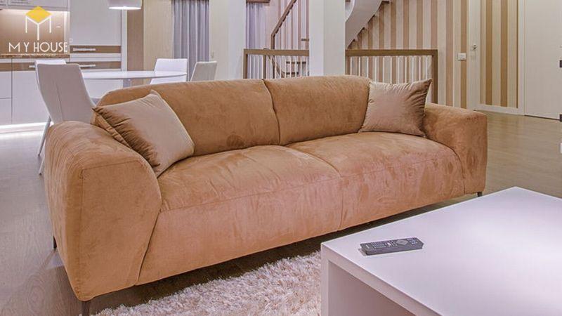 Mẫu ghế sofa da lộn - 11