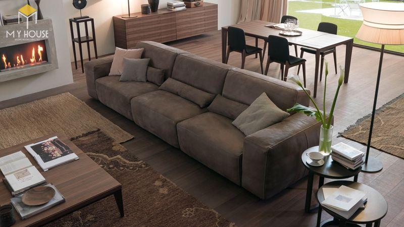 Mẫu ghế sofa da lộn - 12