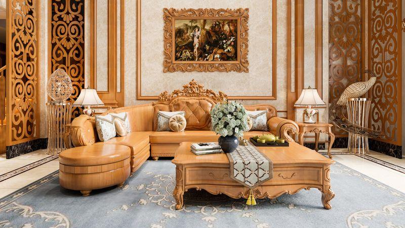 Bộ ghế Sofa gỗ gõ đỏ hiện đại - 11