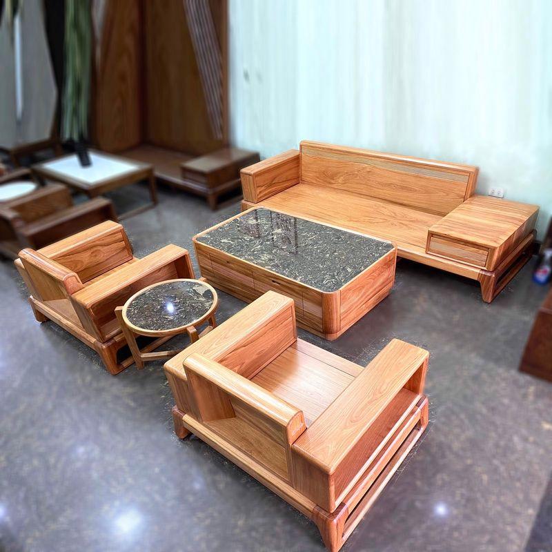 Bộ ghế Sofa gỗ gõ đỏ hiện đại