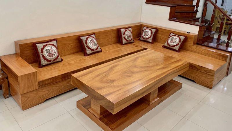 Sofa gỗ gõ đỏ hiện đại 3