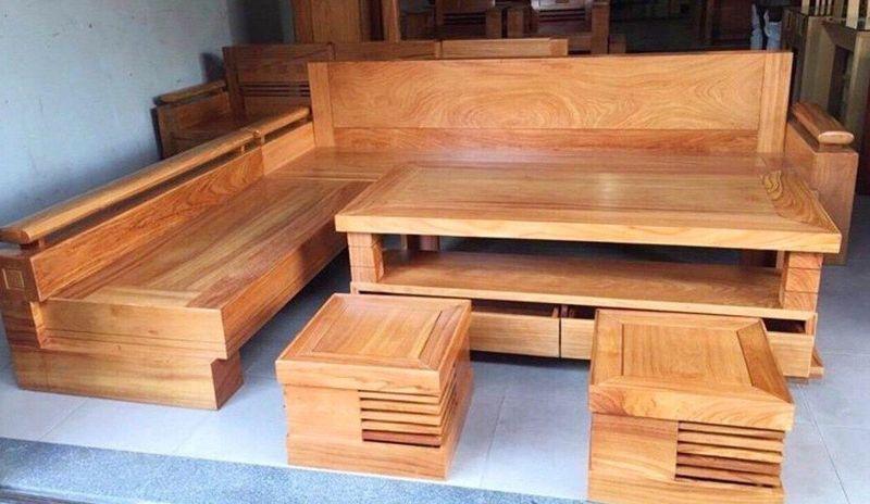 Bộ ghế Sofa gỗ gõ đỏ hiện đại - 04