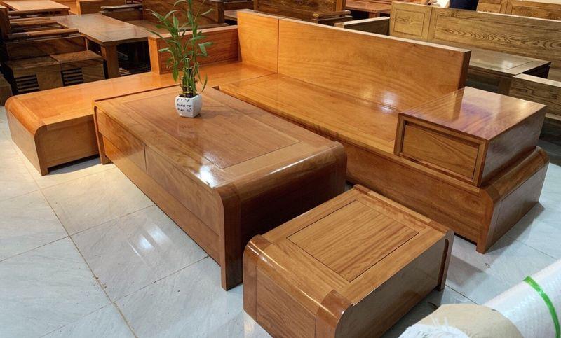 Bộ ghế Sofa gỗ gõ đỏ hiện đại - 05