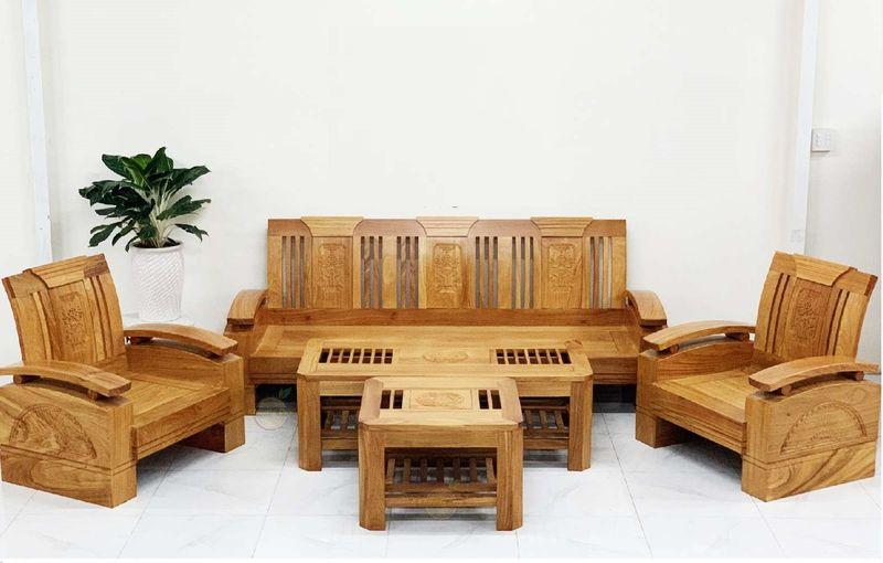 Bộ ghế Sofa gỗ gõ đỏ hiện đại - 02
