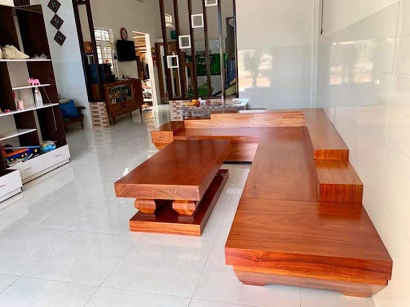 Bộ ghế Sofa gỗ gõ đỏ hiện đại - 06