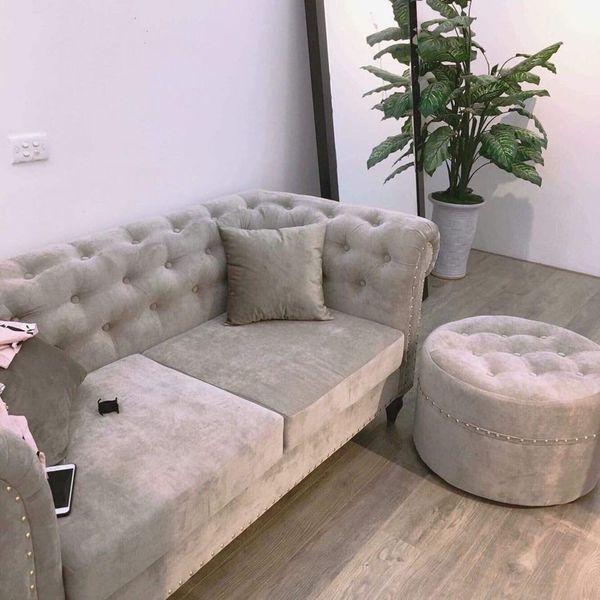 Ghế sofa nỉ nhung hiện đại - 12