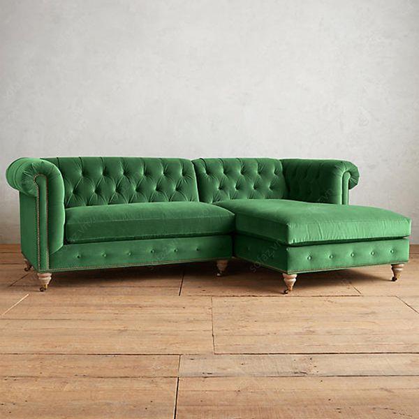 Ghế sofa nỉ nhung hiện đại - 13