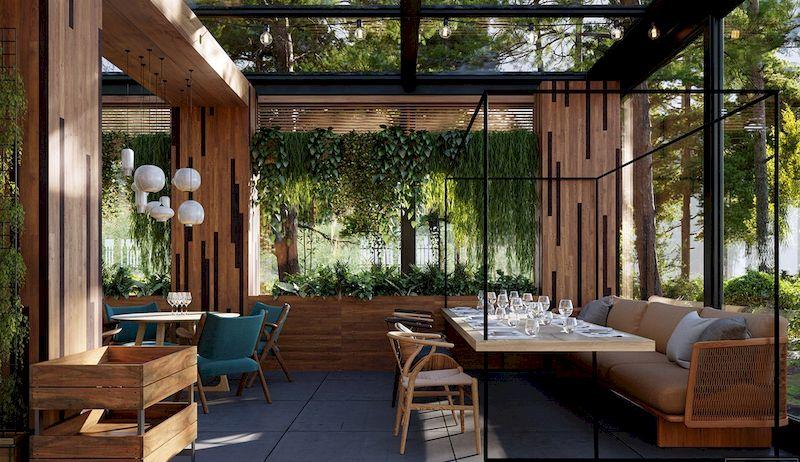 Mẫu thiết kế nhà hàng sân vườn đẹp 1 - 02