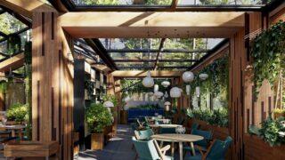 Thiết kế nhà hàng sân vườn 6
