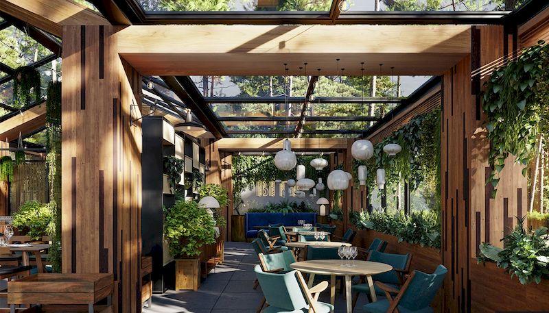 Thiết kế nhà hàng sân vườn 29