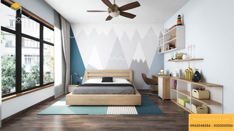Thiết kế nội thất biệt thự Gamuda phòng ngủcon trai - 14