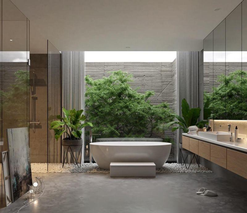 Thiết kế phòng tắm 10m2 - Mẫu 11
