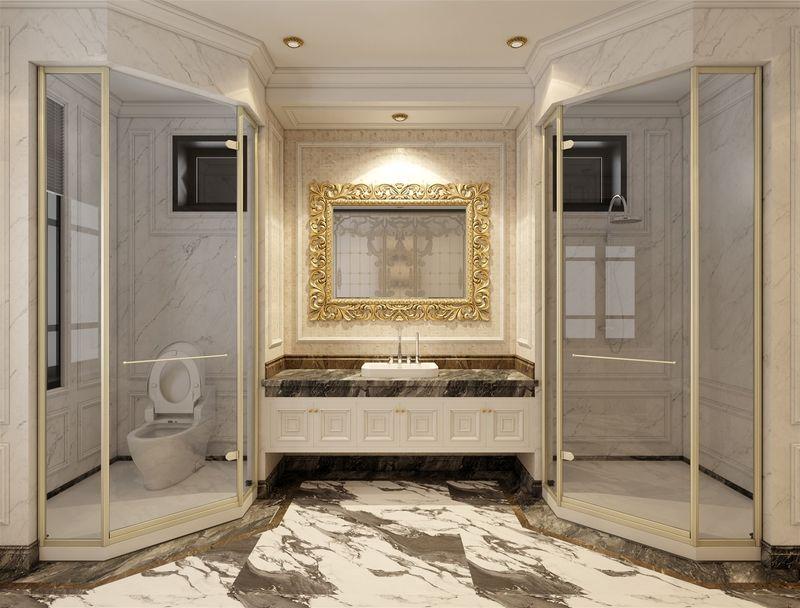 Thiết kế phòng tắm 10m2 - Mẫu 09