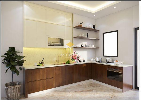 Tủ bếp âm tường đẹp - Mẫu 16