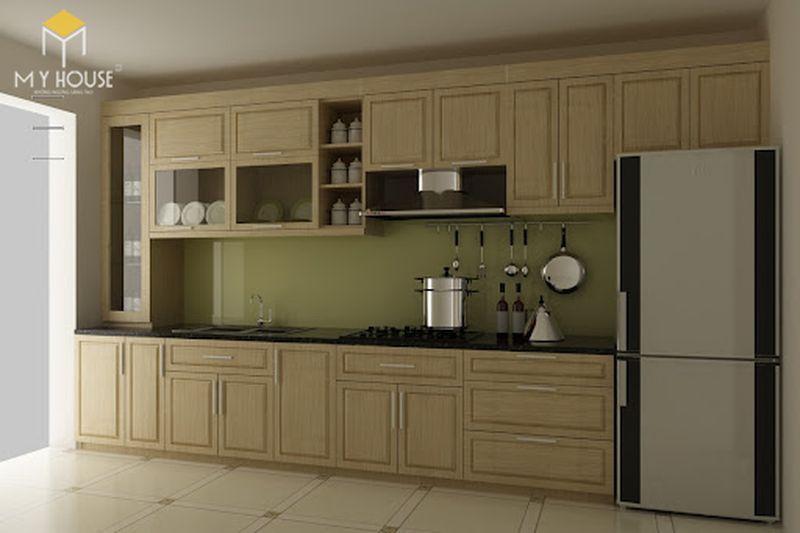 Mẫu tủ bếp gỗ sồi nga hiện đại - Mẫu 09