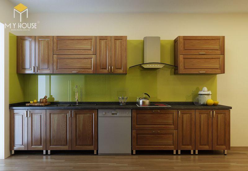 Mẫu tủ bếp gỗ sồi nga hiện đại - Mẫu 12