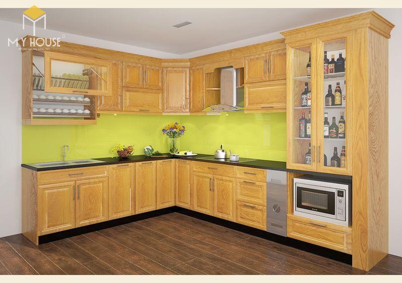 Mẫu tủ bếp gỗ sồi nga hiện đại - Mẫu 13