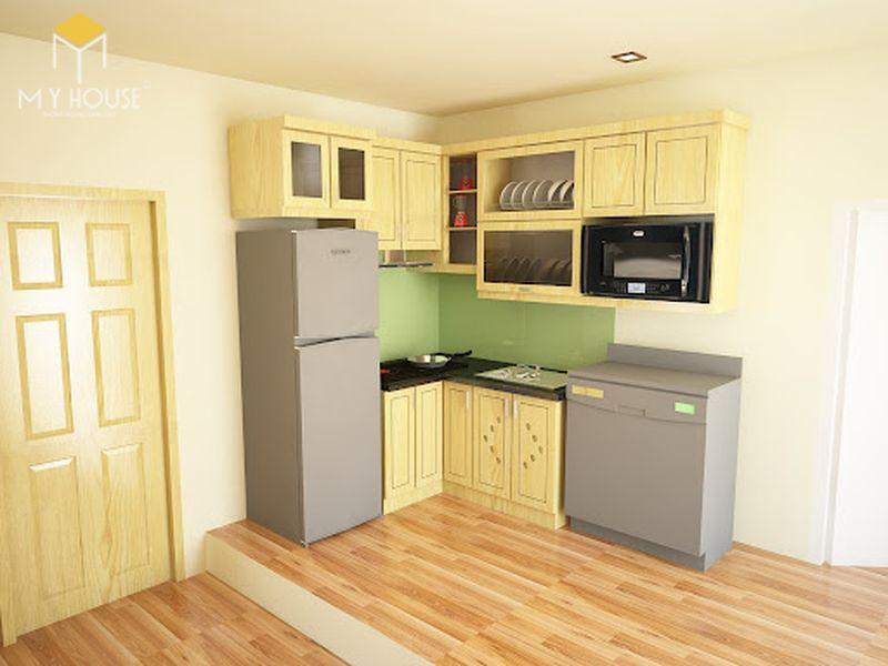 Mẫu tủ bếp gỗ sồi nga hiện đại - Mẫu 15